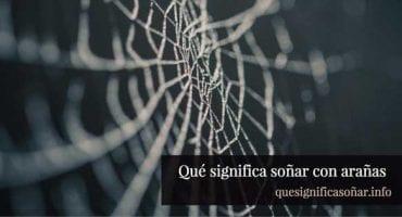 que significa soñar con arañas